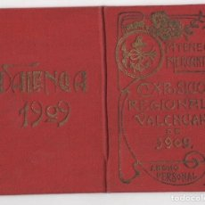 Documentos antigos: CARNET ATENEO MERCANTIL. EXPOSICION REGIONAL VALENCIANA DE 1909.. Lote 274705168