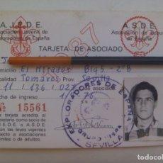 Documentos antiguos: BOYS SCOUT : CARNET DE JOVEN MIEMBRO DE EXPLORADORES DE ESPAÑA , A.J.D.E. . SEVILLA, 1985.. Lote 276034683