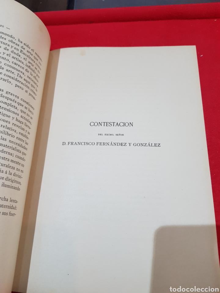 Documentos antiguos: Libreto discurso leído Academia de Bellas Artes de San Fernando Germán Hernández amores 1892 Madrid - Foto 4 - 276667528