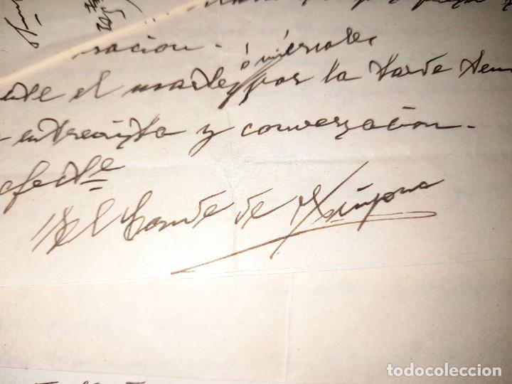 LOTE CARTAS DEL CONDE DE ¿? DE PAMPLONA NAVARRA A SU ABOGADO EN VALENCIA 1939 PRE Y POSGUERRA CIVIL (Coleccionismo - Documentos - Otros documentos)