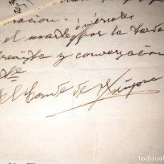 Documentos antiguos: LOTE CARTAS DEL CONDE DE ¿? DE PAMPLONA NAVARRA A SU ABOGADO EN VALENCIA 1939 PRE Y POSGUERRA CIVIL. Lote 276670623