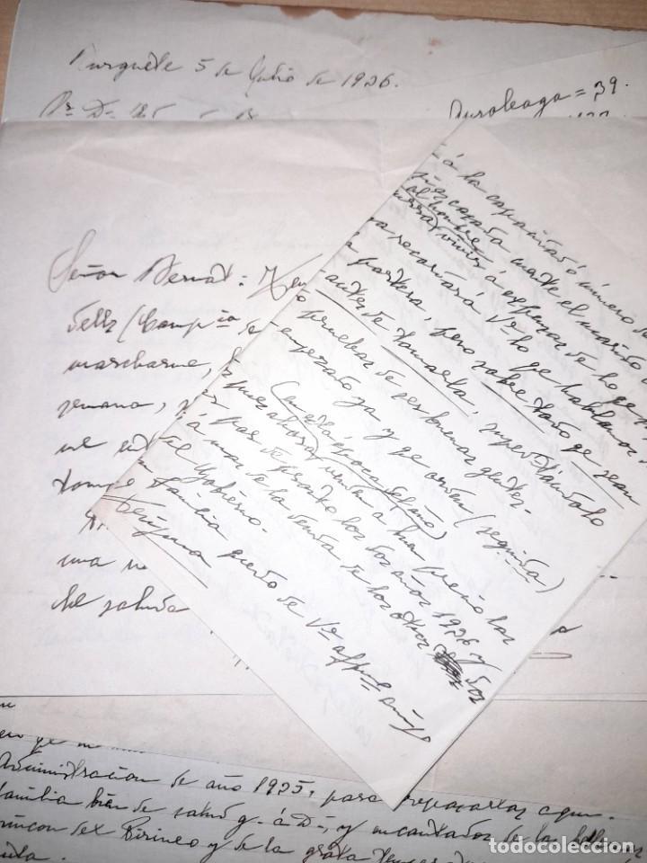 Documentos antiguos: Lote cartas del conde de ¿? de Pamplona Navarra a su abogado en Valencia 1939 pre y posguerra civil - Foto 2 - 276670623