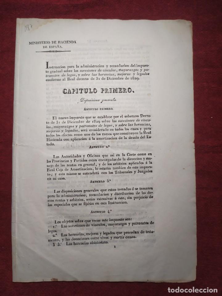 Documentos antiguos: 1831. Documentos. Herencia. - Foto 2 - 276706278
