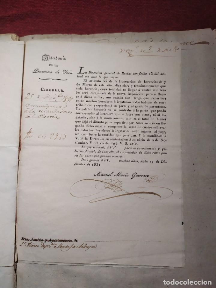 Documentos antiguos: 1831. Documentos. Herencia. - Foto 9 - 276706278