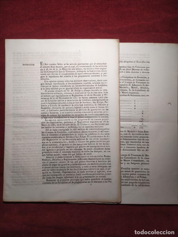 1829. DOCUMENTOS. EJÉRCITO. VETERANOS. (Coleccionismo - Documentos - Otros documentos)