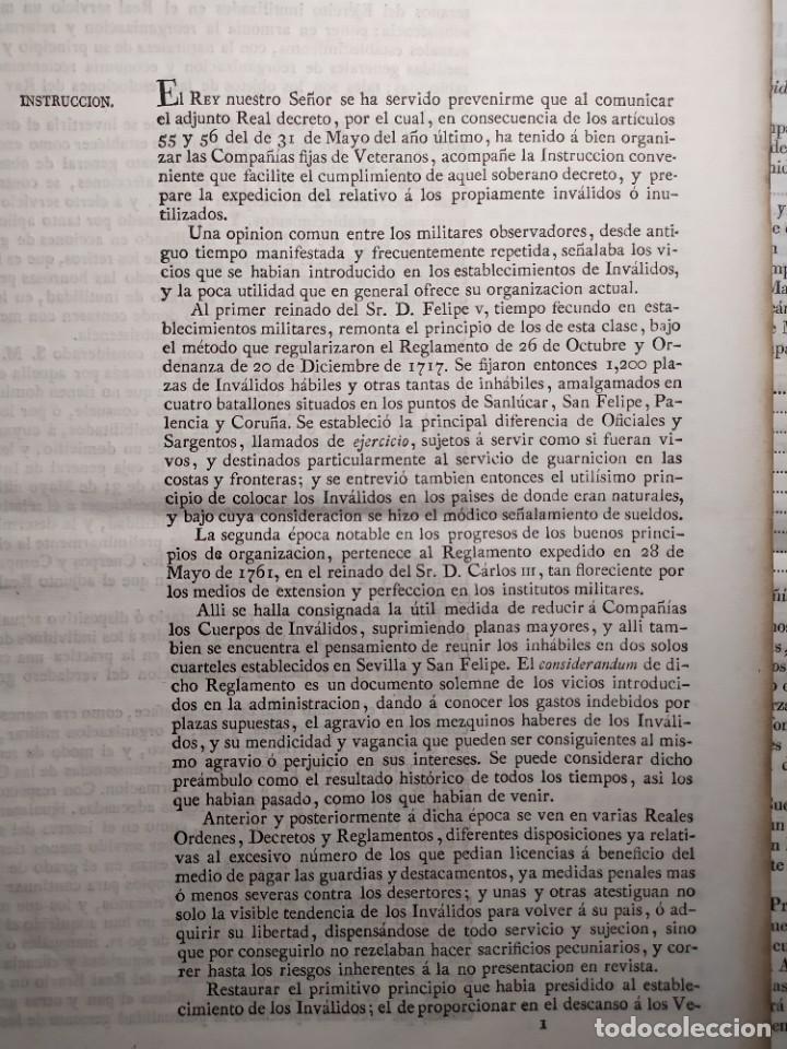 Documentos antiguos: 1829. Documentos. Ejército. Veteranos. - Foto 2 - 276708023