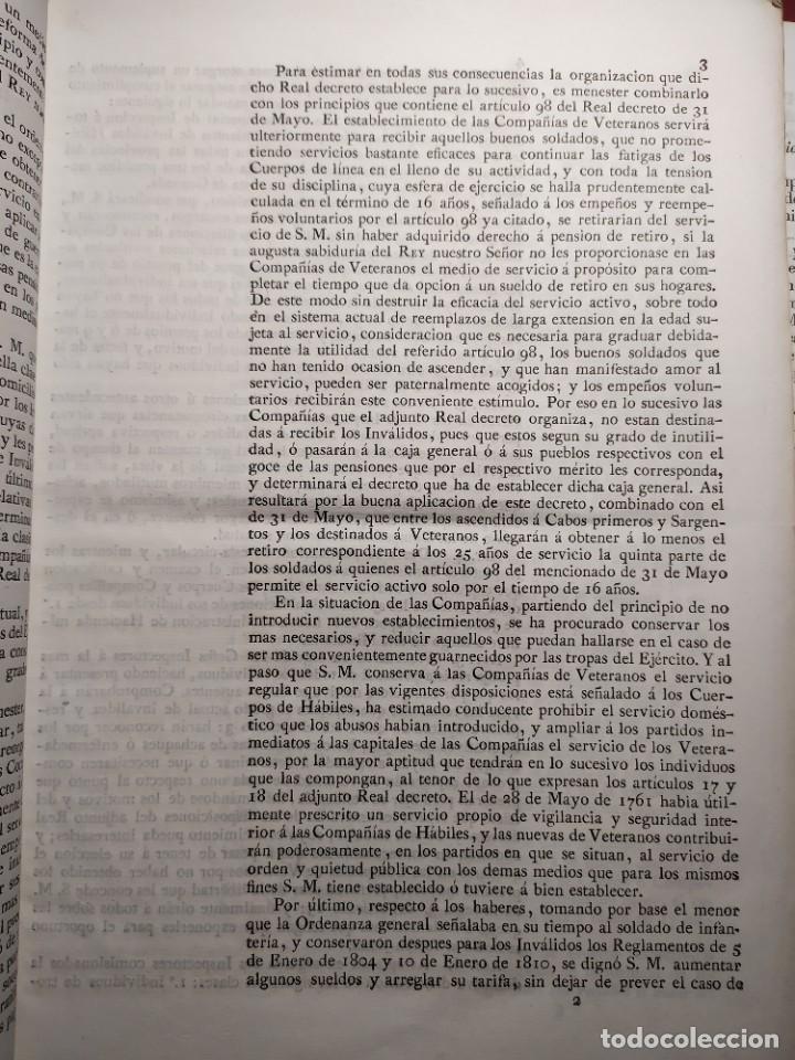 Documentos antiguos: 1829. Documentos. Ejército. Veteranos. - Foto 3 - 276708023