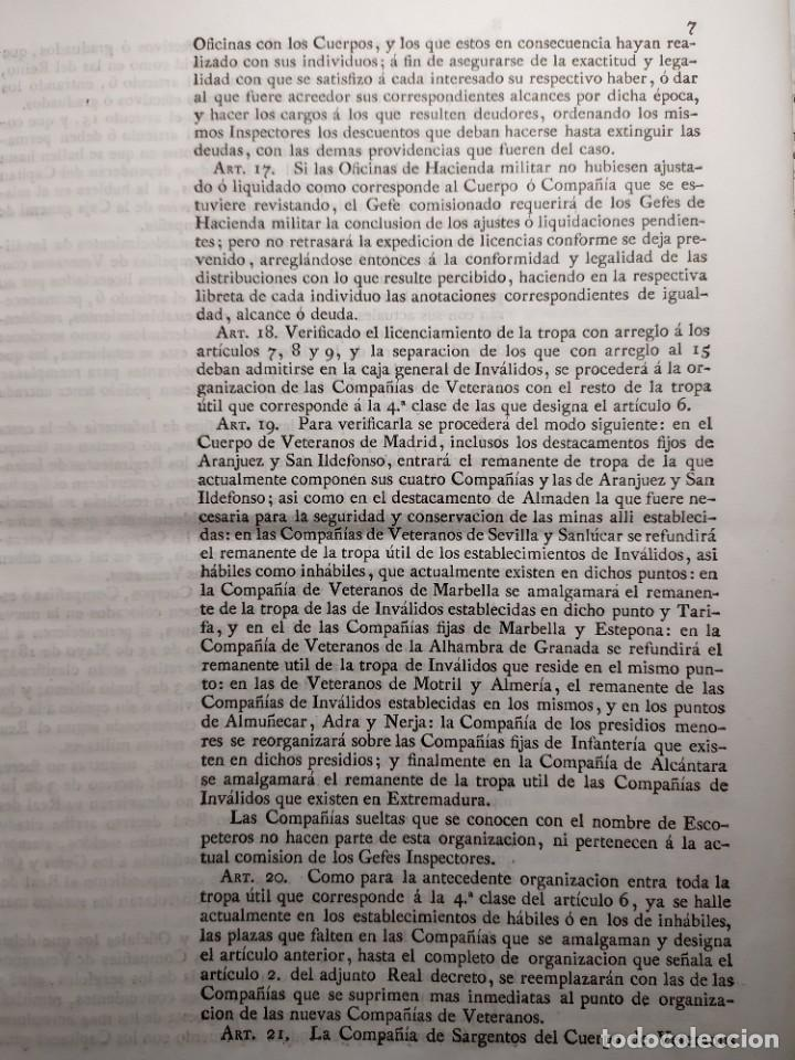 Documentos antiguos: 1829. Documentos. Ejército. Veteranos. - Foto 4 - 276708023