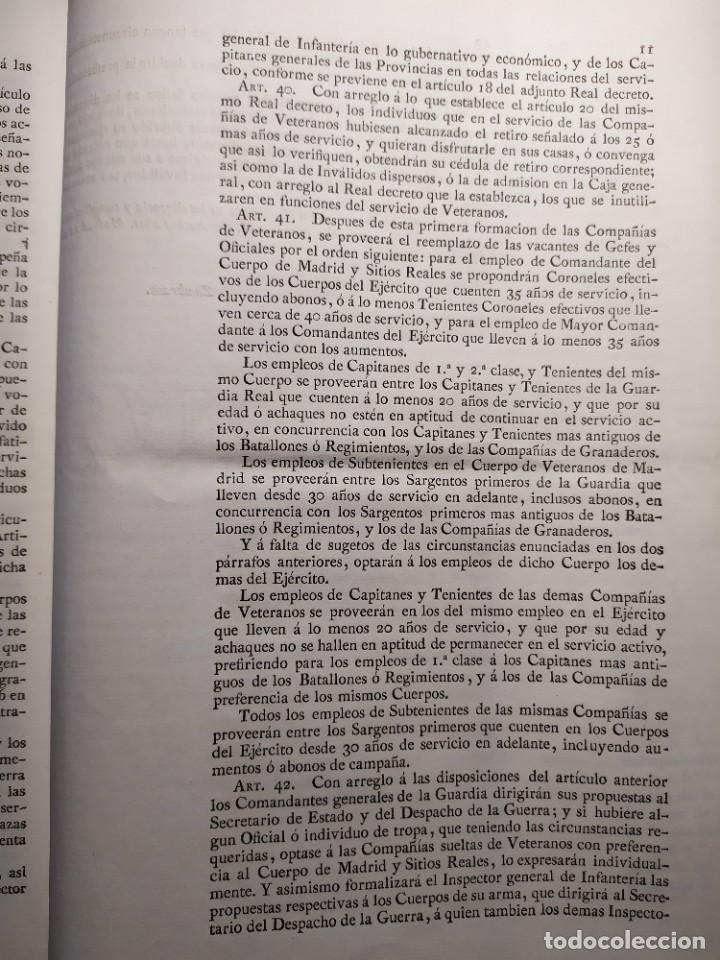 Documentos antiguos: 1829. Documentos. Ejército. Veteranos. - Foto 5 - 276708023