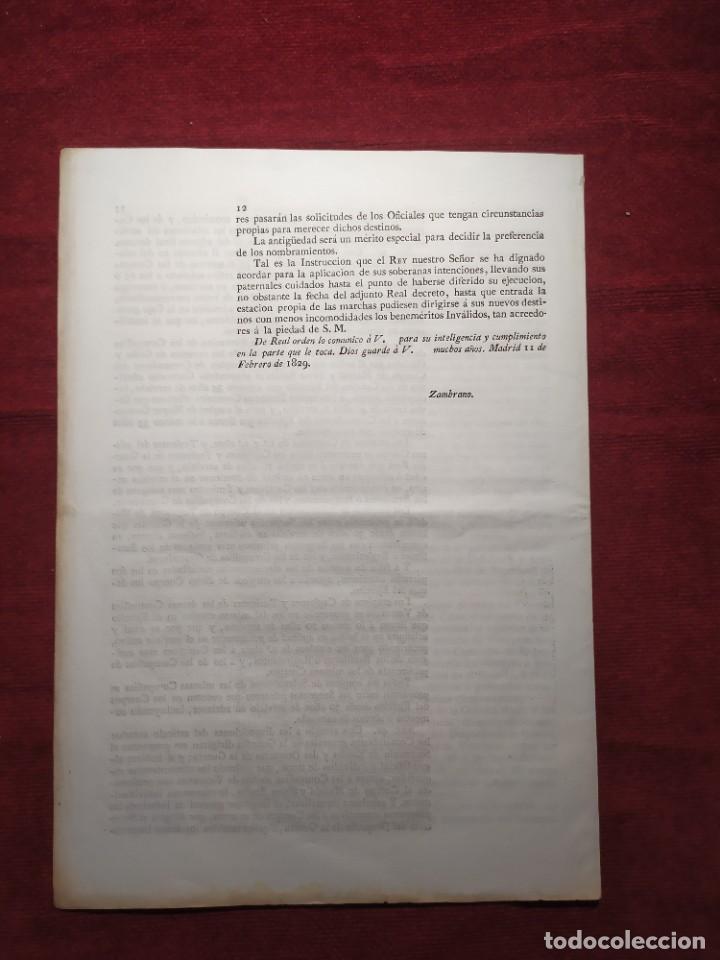 Documentos antiguos: 1829. Documentos. Ejército. Veteranos. - Foto 7 - 276708023