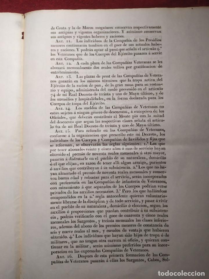 Documentos antiguos: 1829. Documentos. Ejército. Veteranos. - Foto 10 - 276708023