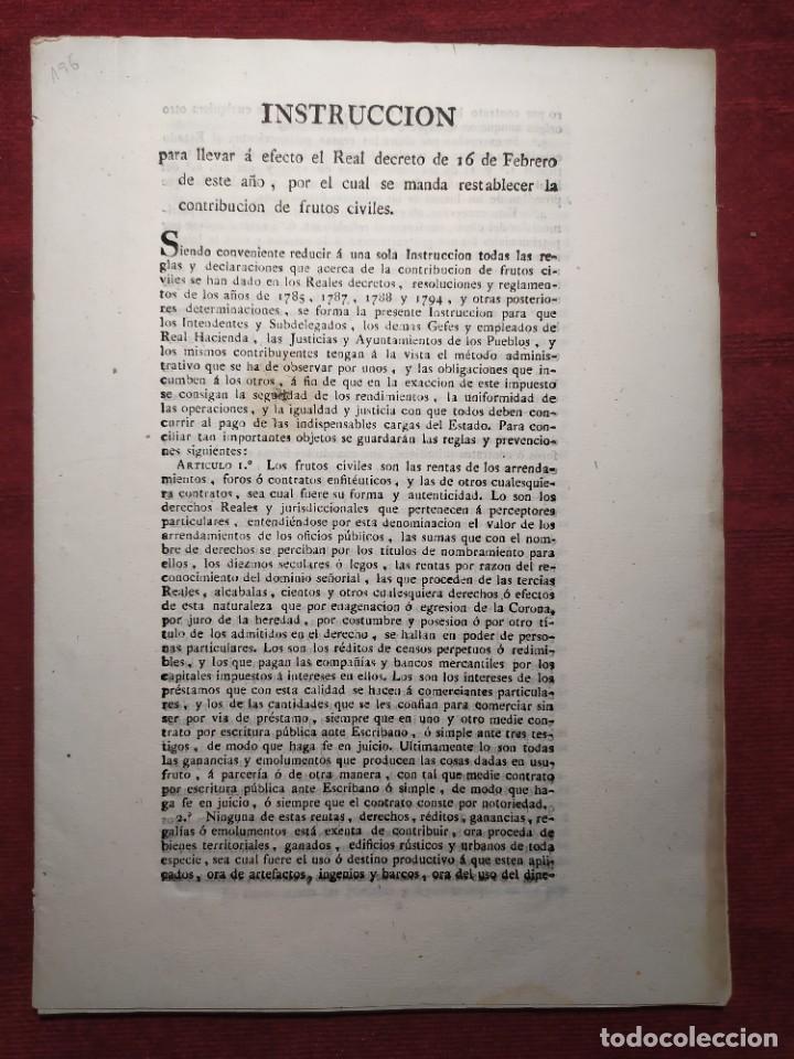 1824. DOCUMENTO. REAL DECRETO. INSTRUCCIÓN. (Coleccionismo - Documentos - Otros documentos)