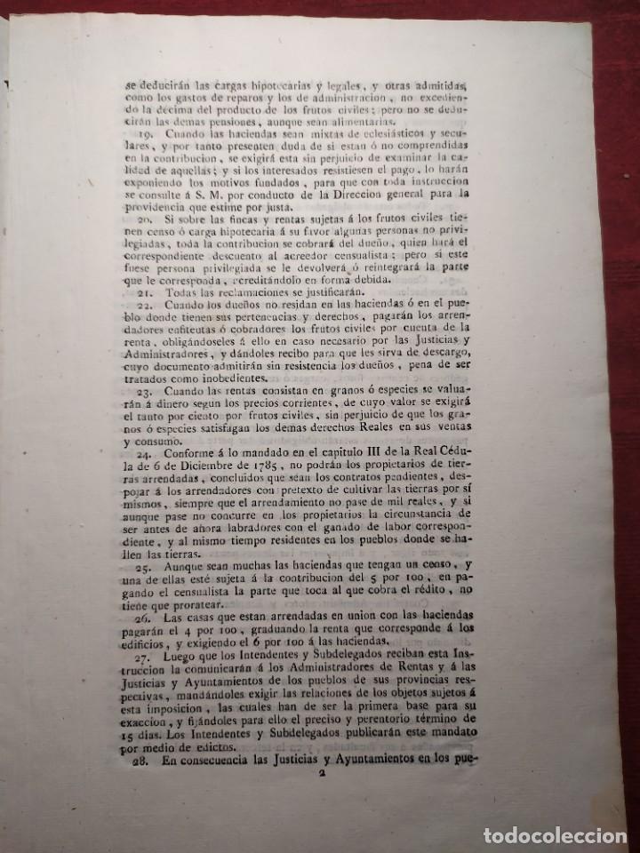 Documentos antiguos: 1824. Documento. Real Decreto. Instrucción. - Foto 2 - 276709238