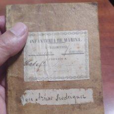 Documentos antiguos: INFANTERÍA DE MARINA , CARTAGENA 1878.. Lote 277142773