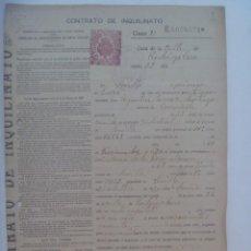 Documentos antiguos: CONTRATO DE INQUILINATO EN PAPEL TIMBRADO, DETRAS MANUSCRITO . SEVILLA, 1921. Lote 277194458