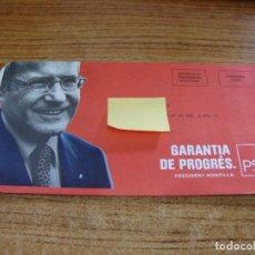 Documentos antiguos: SOBRE CERRADO CAMPAÑA ELECTORAL PSC. Lote 277228263