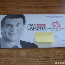 Documentos antiguos: SOBRE CERRADO CAMPAÑA ELECTORAL SOLIDARITAT CATALANA. Lote 277228313