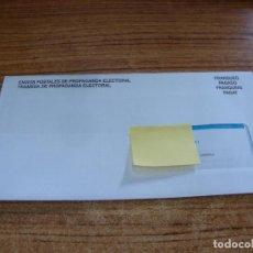 Documentos antiguos: SOBRE CERRADO CAMPAÑA ELECTORAL NO INDICA PARTIDO. Lote 277228693