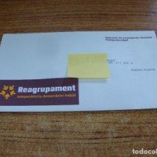 Documentos antiguos: SOBRE CERRADO CAMPAÑA ELECTORAL REAGRUPAMENT. Lote 277229003