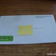 Documentos antiguos: SOBRE CERRADO CAMPAÑA ELECTORAL ESQUERRES I ECOLOGISTES. Lote 277229168