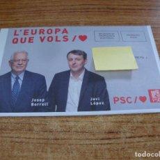 Documentos antiguos: SOBRE CERRADO CAMPAÑA ELECTORAL PSC. Lote 277229833
