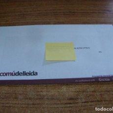 Documentos antiguos: SOBRE CERRADO CAMPAÑA ELECTORAL COMU DE LLEIDA. Lote 277229888