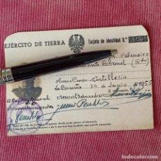 Documentos antiguos: CARNET TARJETA DE IDENTIDAD. 1955. TENIENTE CORONEL DE EJÉRCITO DE TIERRA.. Lote 277255983