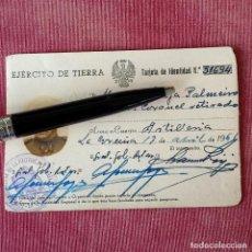 Documentos antiguos: CARNET TARJETA DE IDENTIDAD. 1961. TENIENTE CORONEL DE EJÉRCITO DE TIERRA.. Lote 277256178
