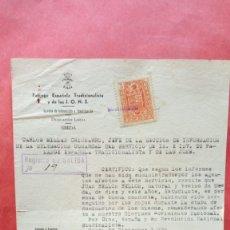 Documentos antiguos: CARLOS MILLAN CHICHARRO.-FALANGE ESPAÑOLA TRADICIONALISTA Y DE LAS JONS.-UBEDA.-AÑO 1939.. Lote 277641093