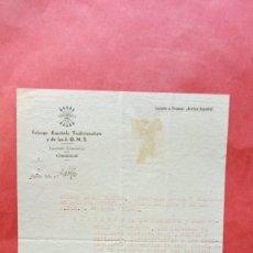 Documentos antiguos: ANDRES ARIAS BORDES.-FALANGE ESPAÑOLA TRADICIONALISTA Y DE LAS JONS.-UBEDA.-AÑO 1940.. Lote 277641688