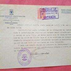 Documentos antiguos: FALANGE ESPAÑOLA Y DE LAS JONS.-ANTONIO HURTADO GARCIA.-GUERRA CIVIL.-TORREPEROGIL.-AÑO 1939.. Lote 277644668