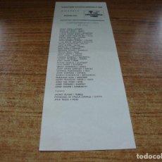 Documentos antiguos: PAPELETA ELECCIONES CORTS GENERALS 1986 DIPUTATS CONVERGENCIA I UNIO CIU. Lote 278919463