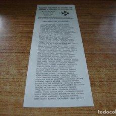Documentos antiguos: PAPELETA ELECCIONES PARLAMENTO DE CATALUNYA DIPUTADOS 1980 SOLIDARITAT CATALANA. Lote 278922183