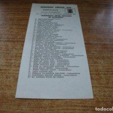 Documentos antiguos: PAPELETA ELECCIONES LOCALES CONCEJALES BARCELONA 1979 DEMOCRACIA SOCIAL CRISTIANA DE CATALUNYA. Lote 278931893