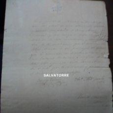 Documentos antiguos: ESCRITO CON SELLO EN SECO.PUEBLO VALLESECO.DOMINGO CARDENAS,ALCALDE.1869.ANTONIO ABAD GONZALEZ. Lote 278936448