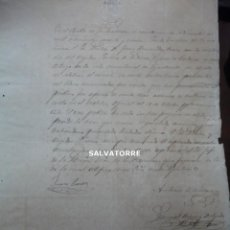 Documentos antiguos: ESCRITO.DOCUMENTO.SELLO EN SECO.LA MATANZA.TENERIFE.1869.JUAN PERERA,ALCALDE.FIRMAS. Lote 278936543