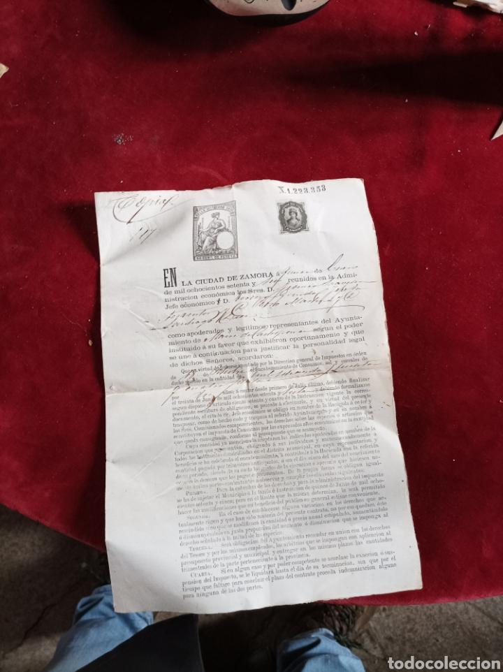 Documentos antiguos: Sellos Fiscales Zamora 1876 - Foto 2 - 279524913