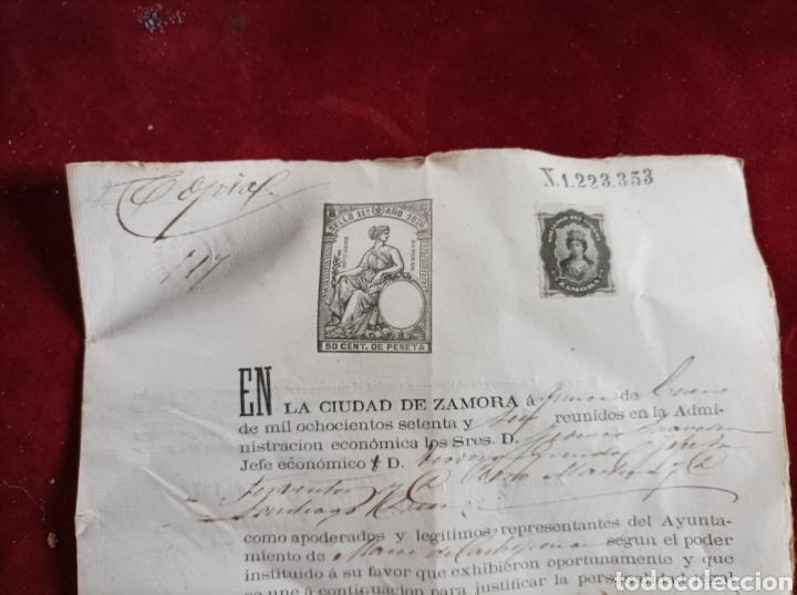 SELLOS FISCALES ZAMORA 1876 (Coleccionismo - Documentos - Otros documentos)