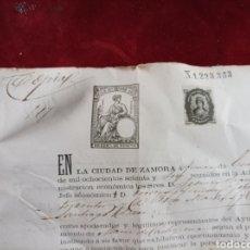Documentos antiguos: SELLOS FISCALES ZAMORA 1876. Lote 279524913