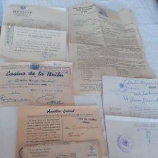 Documentos antiguos: LOTE DE 6 DOCUMENTOS SURTIDOS DE LOS AÑOS 40-50-60.VER FOTOS. Lote 280582703