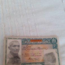 Documentos antiguos: ANTIGUO CARNET DE IDENTIDAD DEL AÑO 1955 EXPEDIDO EN OVIEDO A NOMBRE DE JOSE LAVIADA HEVIA.. Lote 280586798