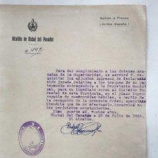 Documentos antiguos: CARTA DEL ALCALDE DE LA BISBAL DEL PENEDÈS 1942.. Lote 280640483