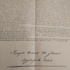 Documentos antiguos: LIMOSNA ESCRITA Y FIRMADA POR ENRIQUE CARDENAL DE TOLEDO 1961. Lote 283444133