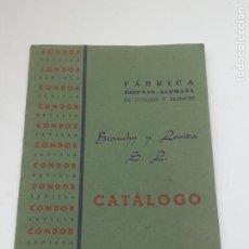Documentos antiguos: FÁBRICA HISPANO ALEMANA DE BARNICES. 1941. BEAUCHY Y LEVIDA. 16 PAGINAS. 14 X 10CM. VER. Lote 283735283