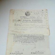 Documentos antiguos: SEVILLA. 1820. CONTRIBUCIONES DE ALUMBRADO Y LIMPIEZA. TAMAÑO FOLIO + 3 CUARTILLAS. VER. Lote 283737368
