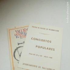 Documentos antiguos: VALLADOLID. SEMANA SANTA. 1981.. LOTE DE 2 PROGRAMAS. FIESTAS DE PASCUA. 12 Y 7 PAGINAS. VER FOTOS. Lote 284098983