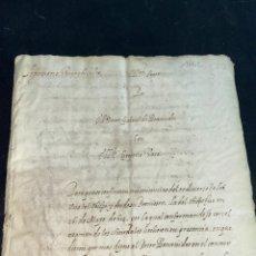Documentos antiguos: CIRCA 1640. ALEGACIÓN SAN PEDRO DE VALDERAS, LEÓN. FIRMAS DEL LICENCIADO PISA DAVILA.. Lote 284151303