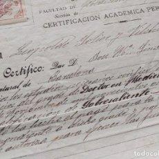 Documenti antichi: 1911: CERTIFICADO DE MEDICINA DEL DOCTOR JOSÉ MARIA SIMÓN Y DE GUILLEUMA, OFTALMÓLOGO E HISTORIADOR. Lote 285134058