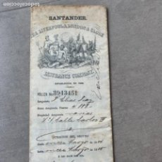 Documentos antiguos: SANTANDER INSURANCE COMPANY SEGURO HOGAR 1904. Lote 285756668