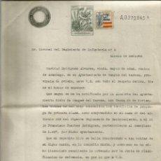 Documentos antigos: CANGAS DE NARCEA ASTURIAS.1941. POR LA PATRÍA 10CTS. Lote 286709143